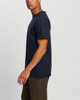 AERE Relaxed Organic Aere Tee - T-Shirts & Singlets (Navy)