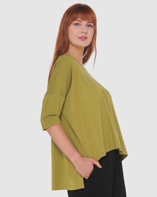 Lincoln St High Low Top - Tops (Chartreuse)