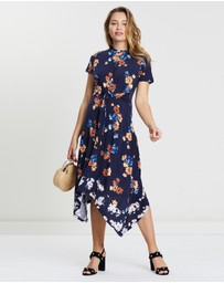 Oasis - Floral Hanky Hem Dress