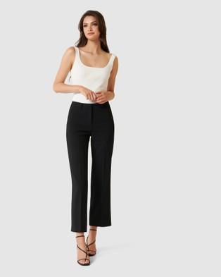 Forever New Kayla Crop Wide Leg Pant - Pants (Black)