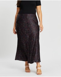 Atmos&Here Curvy - Lucy Button Detail Skirt