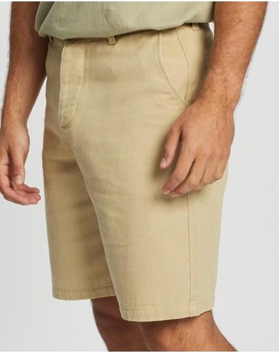 Aere Organic Twill Shorts Sand