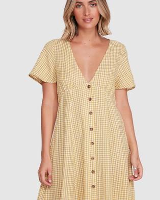 RVCA Hop Skip Dress - Dresses (VINTAGE GOLD)