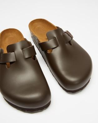 Birkenstock Boston Sandals - Sandals (Dark Brown Smooth Leather)