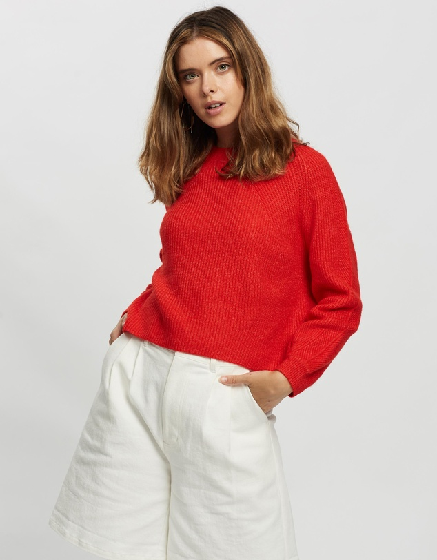 TOPSHOP Petite - Petite Ribbed Cropped Jumper