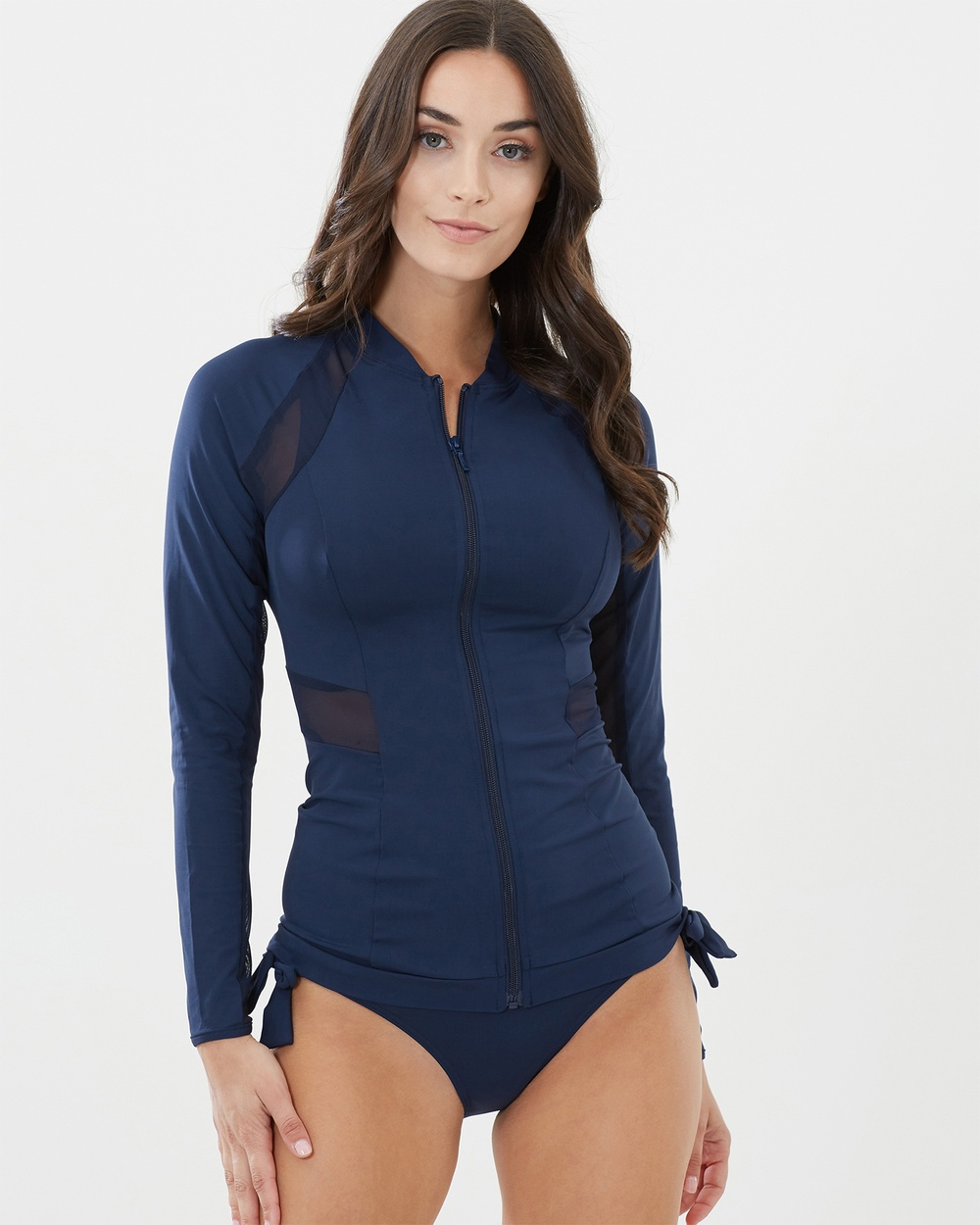 JETS Long Sleeve Rashie Swimwear Navy Long Sleeve Rashie