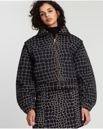 See By Chloé - Quilted Croco Jacket