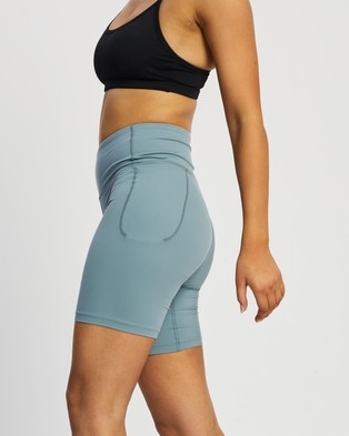 Under Armour Meridian Bike Shorts - 1/2 Tights (Hushed Turquoise & Halo Grey)