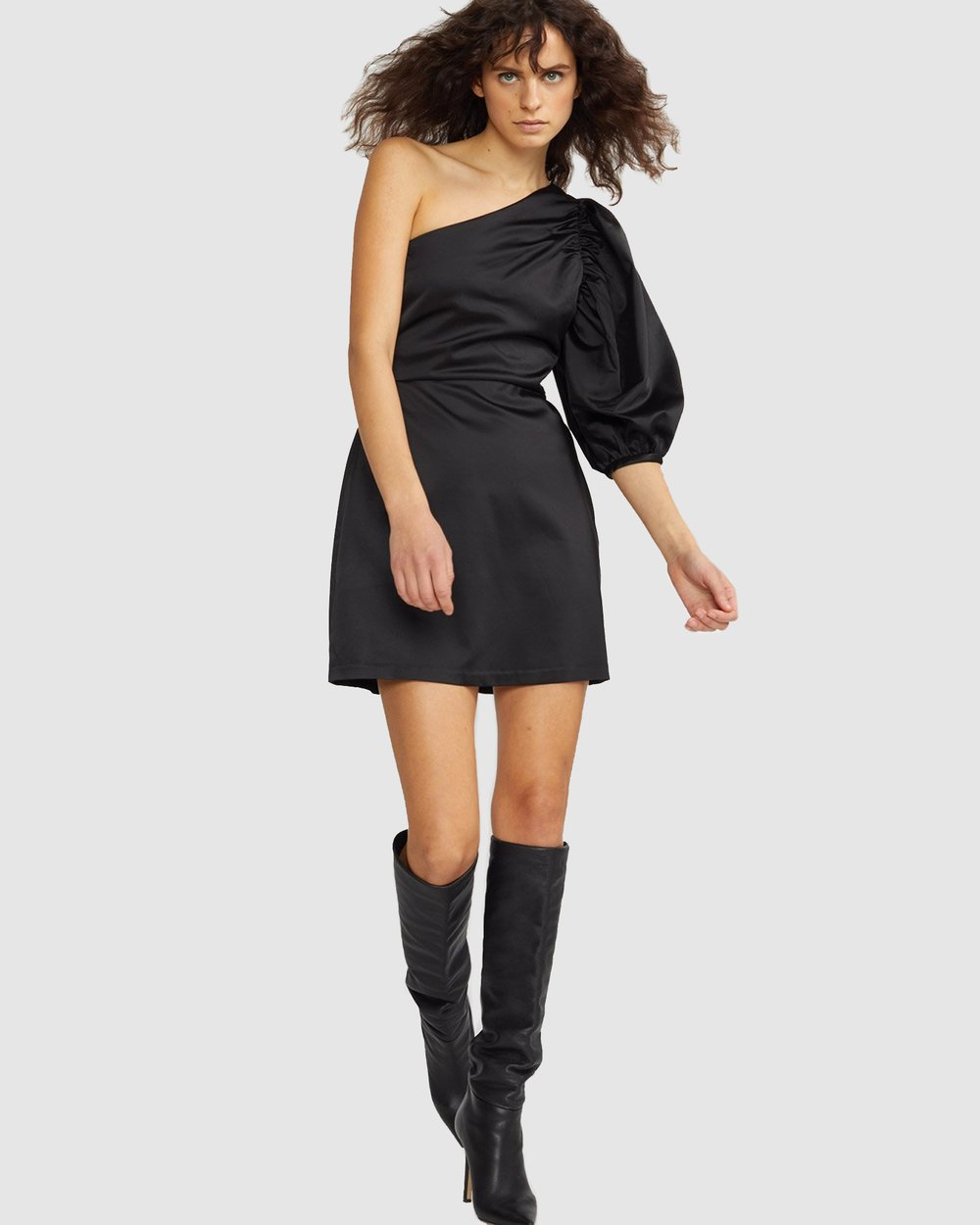0e15a2ce44b Montrose Stretch Satin One Sleeve Dress by Cynthia Rowley Online | THE  ICONIC | Australia