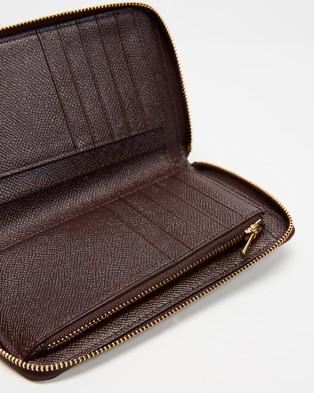 Coach Medium Zip Around Wallet - Wallets (Oxblood)