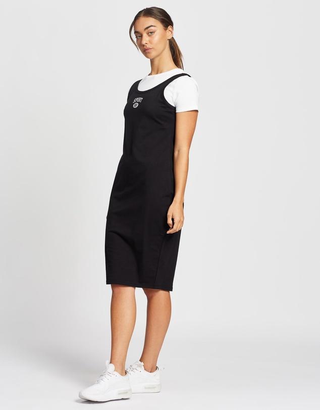 Women Layered Short Sleeve Logo Dress