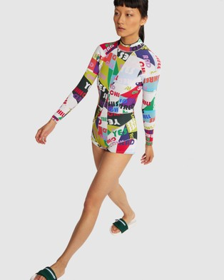 Cynthia Rowley Good Vibes High Tide Wetsuit - Rash Suits (Blue)