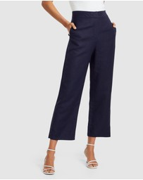 Forever New - Lucy Linen Blend Pants