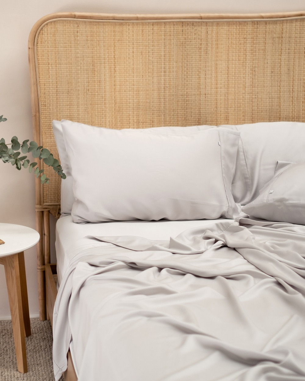 Mulberry Threads 100% Organic Bamboo Sheet Set Home Silver