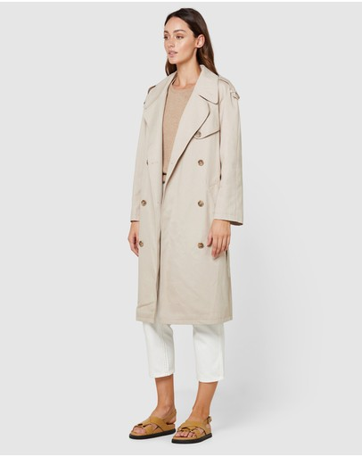 Elka Collective Dakota Trench Light Taupe