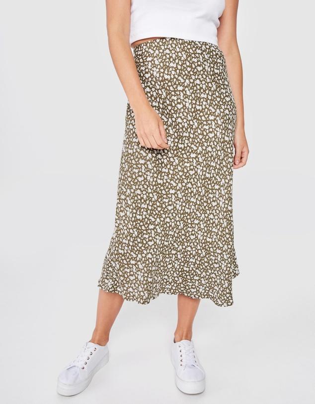 woven belle bias midi skirt Woven Belle Bias Midi Skirt by Cotton On Online | THE ICONIC | Australia
