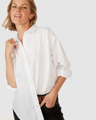 Ceres Life Classic Gathered Shirt - Tops (White)