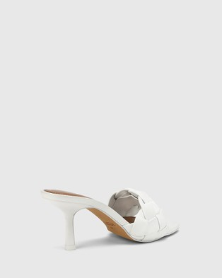Wittner Combs Woven Leather Stiletto Heel Sandals - Sandals (White)