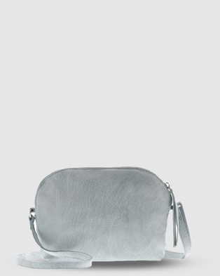 Cobb & Co Pasadena Soft Leather Crossbody - Handbags (Mist)