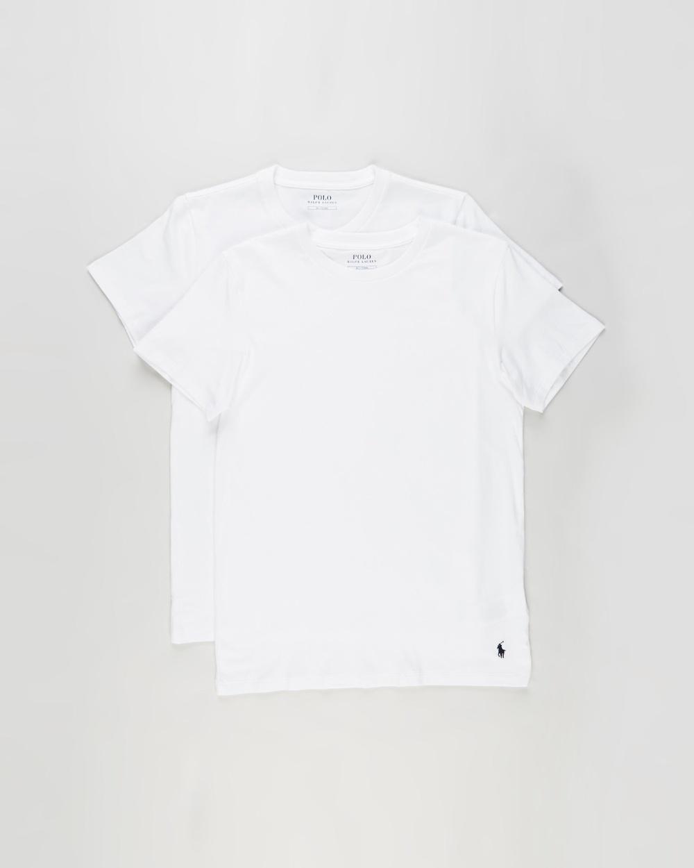 Polo Ralph Lauren - 2 Pack Short Sleeve Crew Tees - T-Shirts & Singlets (White) 2-Pack Short Sleeve Crew Tees