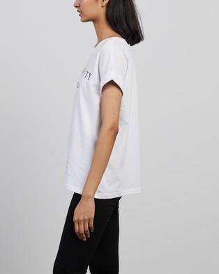 AllSaints - Incense City Imogen Boy Tee T-Shirts & Singlets (White)