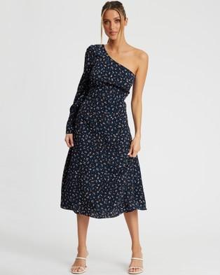 Savel Clara Midi Dress - Dresses (Meadow Floral Navy)