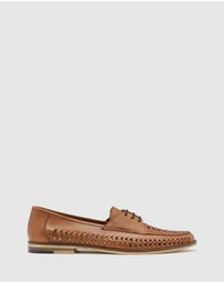 Oxford - Kai Woven Leather Derby Shoe