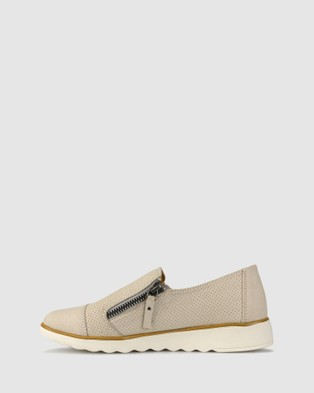 Zeroe Ardent Side Zip Shoes - Casual Shoes (Nude)