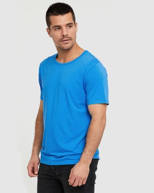 Bamboo Body Bamboo Crew Neck T Shirt - T-Shirts & Singlets (French Blue)