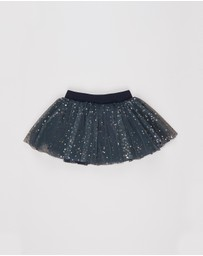 Huxbaby - Gold Star Tulle Skirt - Kids 6-8