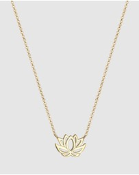 Elli Jewelry - Necklace Lotus Flower 925 Silver Gold-Plated