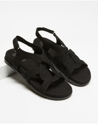 AERE - Linen Footbed Sandals