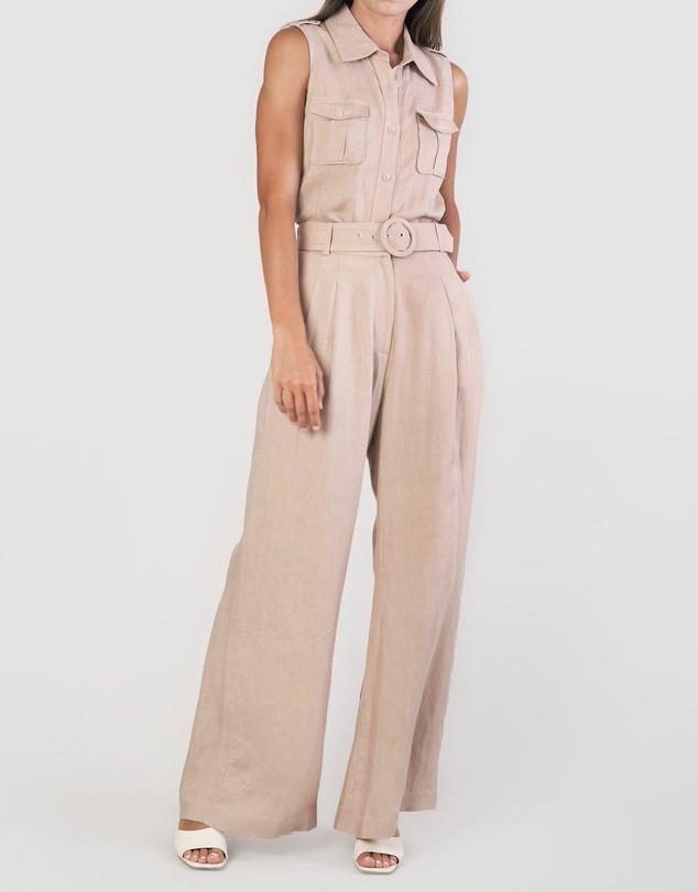 Women Jasper Linen Twill Vest