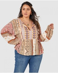 The Poetic Gypsy - Heart Of Gold Tassel Blouse