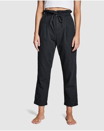 Cotton On Paperbag Pants Washed Black