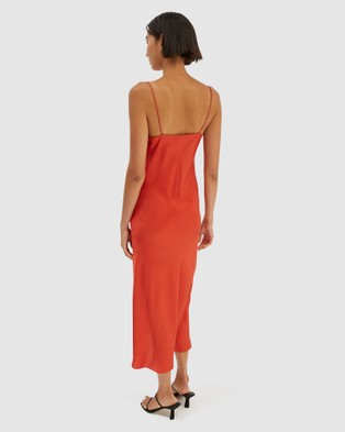 SABA Freya Silk Slip Dress - Dresses (Papaya)