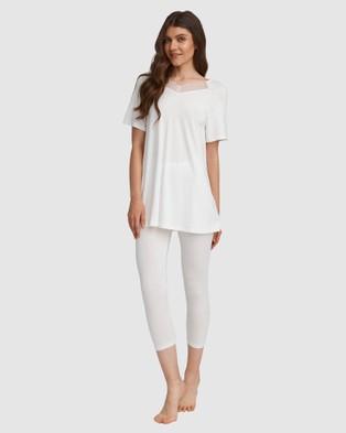 Oh!Zuza Lace Back Pyjama Set - Two-piece sets (Ivory)