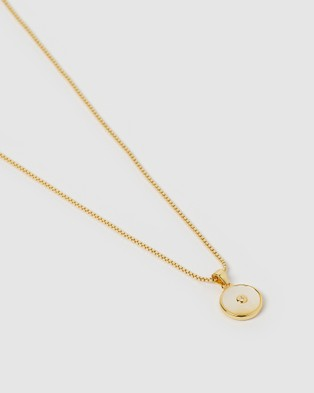Arms Of Eve Bohdi Gold and Mother Of Pearl Necklace - Jewellery (Gold)