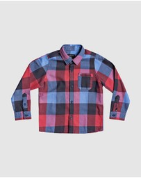 Quiksilver - Boys 2-7 Motherfly Long Sleeve Flannel Shirt