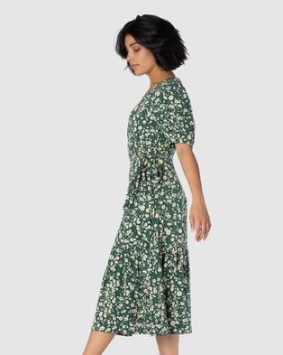 Princess Highway Clementine Wrap Dress - Dresses (Green)