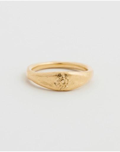 Kirstin Ash Desert Sun Ring 18k Gold Vermeil