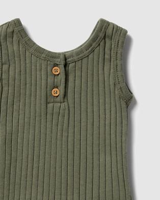 Wilson & Frenchy Organic Rib Tank   Babies - T-Shirts & Singlets (Fern Green)