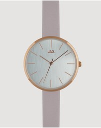 Jag - Julia Silver Dial Pale Rose Strap 36 mm