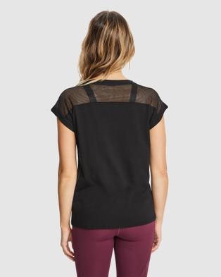 Rockwear Mesh Panel Casual Tee - T-Shirts & Singlets (BLACK)