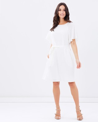 Atmos & Here – Colbie Wide Sleeve Dress – Dresses (Off White)