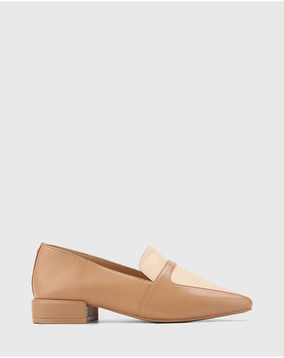 Wittner - Abril Leather Square Toe Flat Loafers
