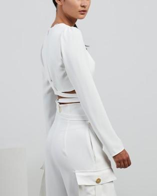 Nicola Finetti Straps Ring Top - Cropped tops (White)