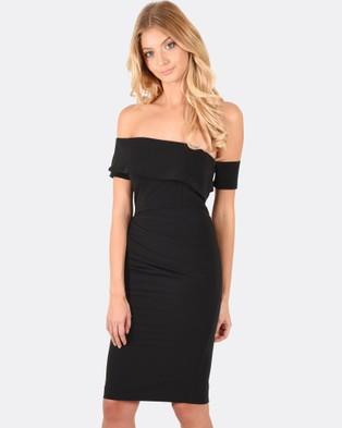 Forcast – Esther Asymmetric Dress Black