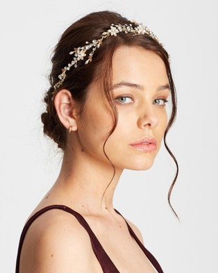 Ivory Knot Lana Hair Vine - Hair Accessories (Gold)