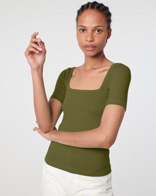 Arnsdorf Clara Tee - Tops (Green)